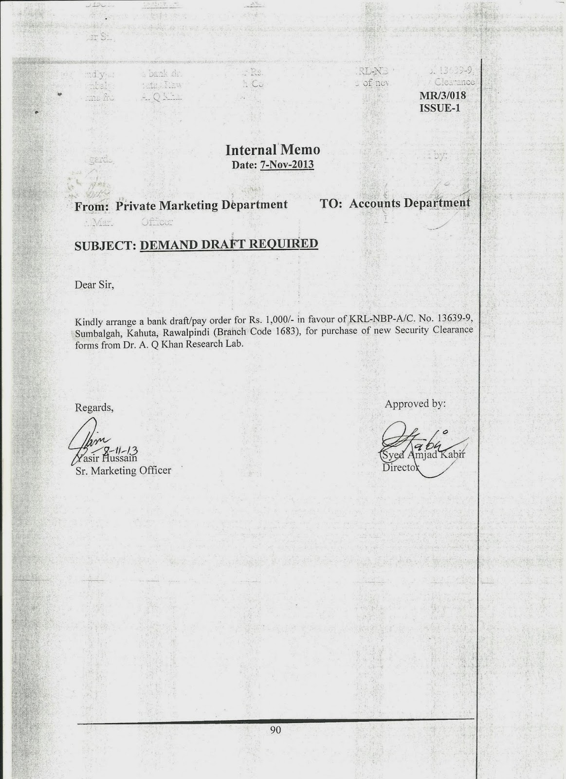 Internal Memo Format Letter | DocumentsHub.Com